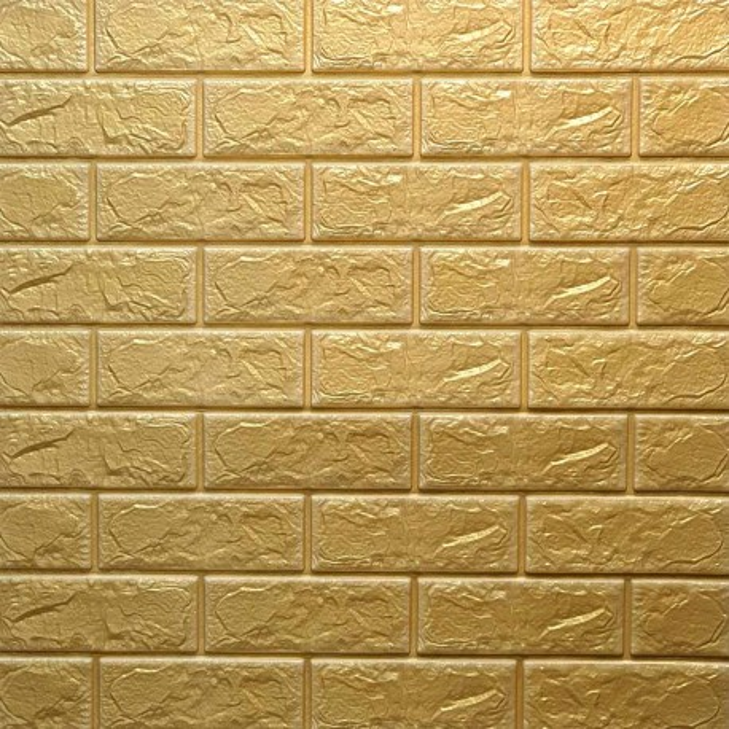 دیوارپوش فومی طرح آجر زرد مدل 23