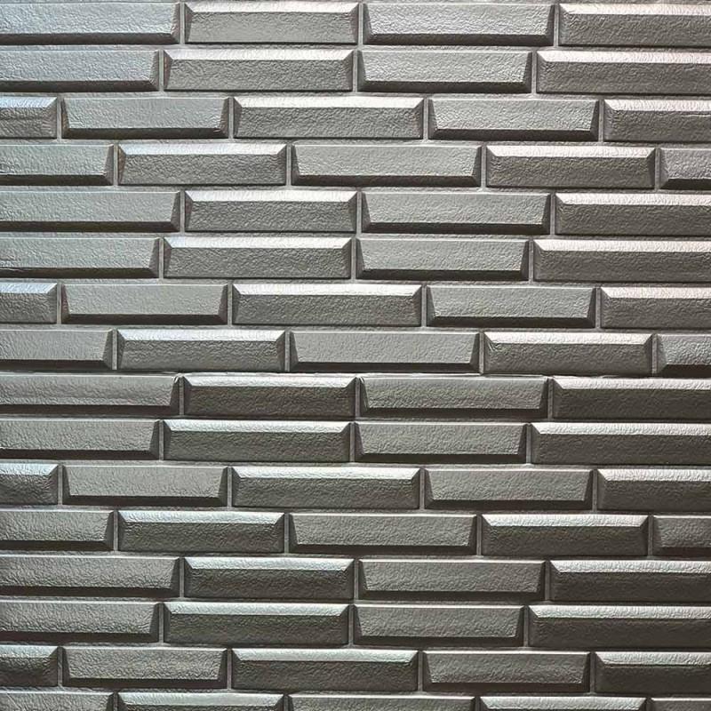 دیوارپوش فومی طرح شمش طوسی مدل 19