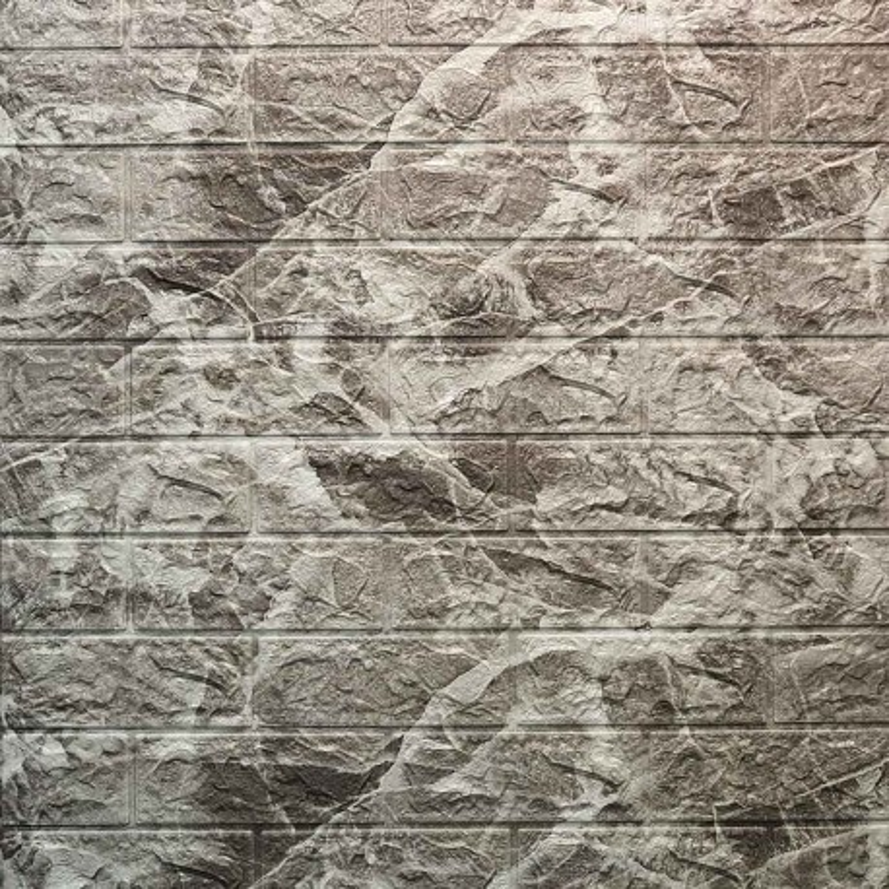 دیوارپوش فومی طرح ابر وباد طوسی روشن مدل 52