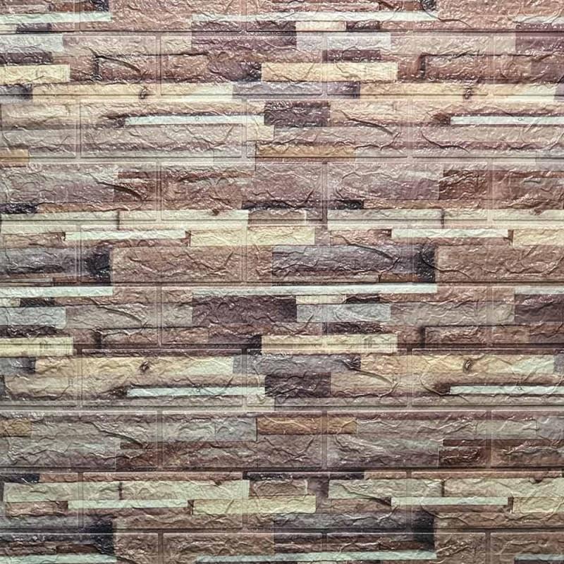 دیوارپوش فومی طرح آنتیک طوسی شکلاتی مدل 33