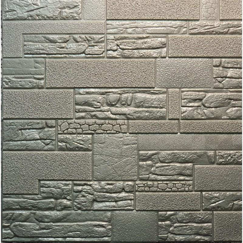 دیوارپوش فومی طرح سنگ آنتیک طوسی مدل 56