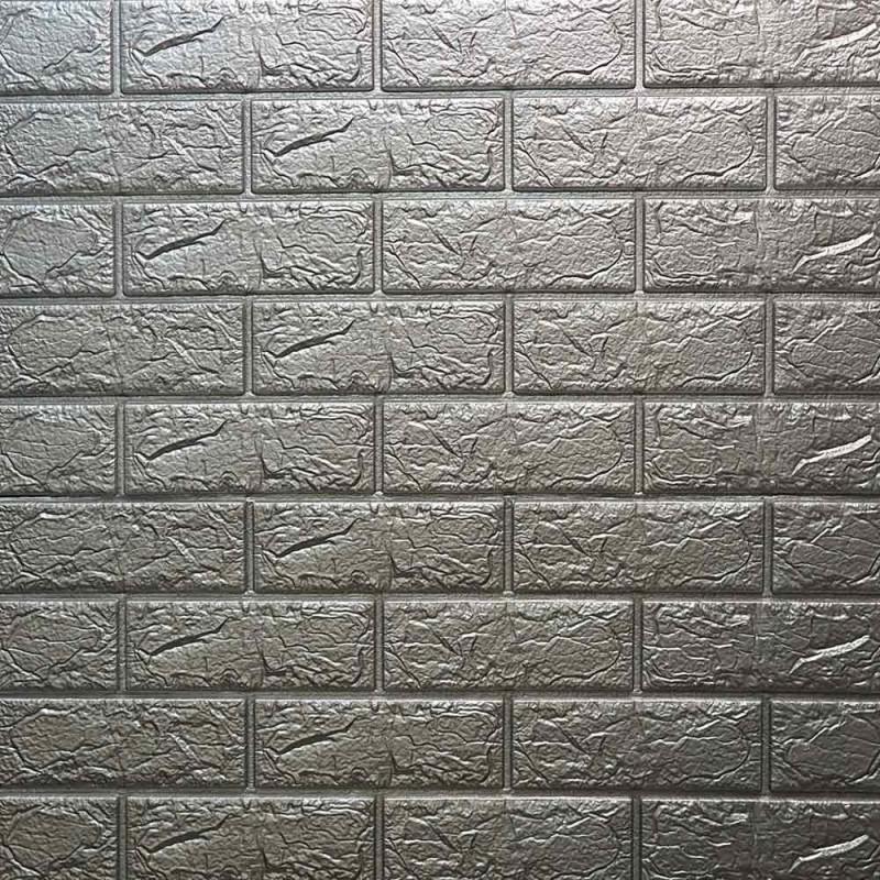 دیوارپوش فومی طرح آجر طوسی مدل 31