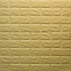 دیوارپوش فومی طرح آجر زرد مدل 36