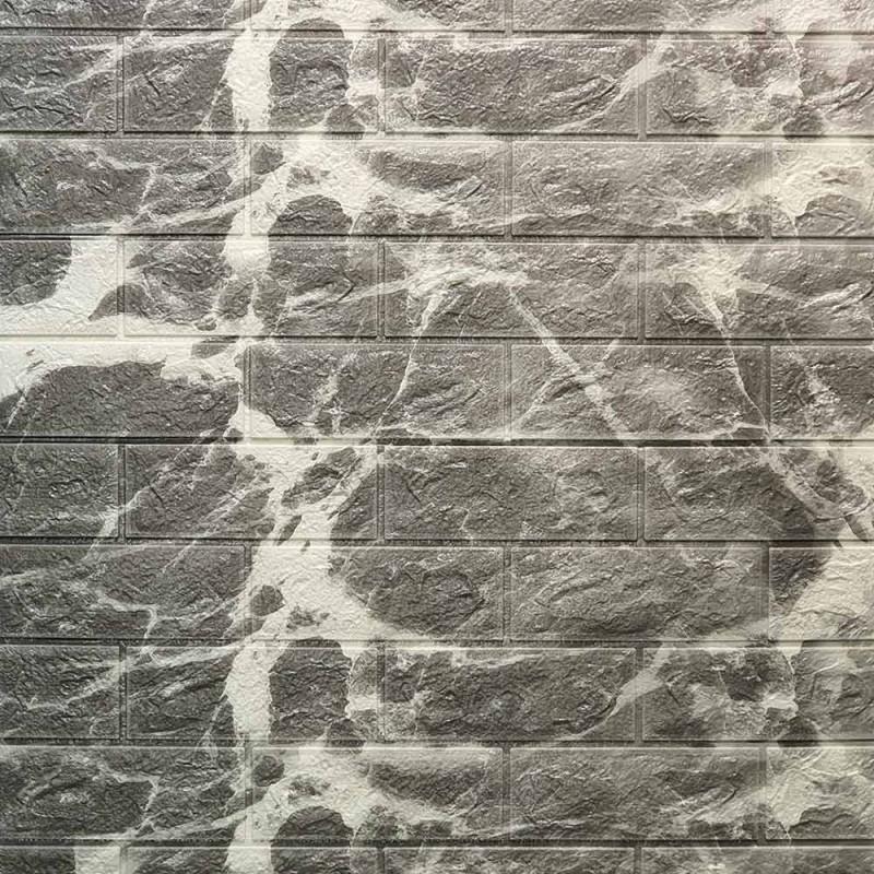 دیوارپوش فومی طرح ابر وباد طوسی مدل 34