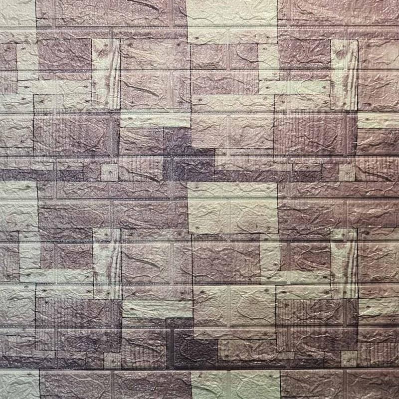 دیوارپوش فومی طرح آنتیک مربعی طوسی مدل 54