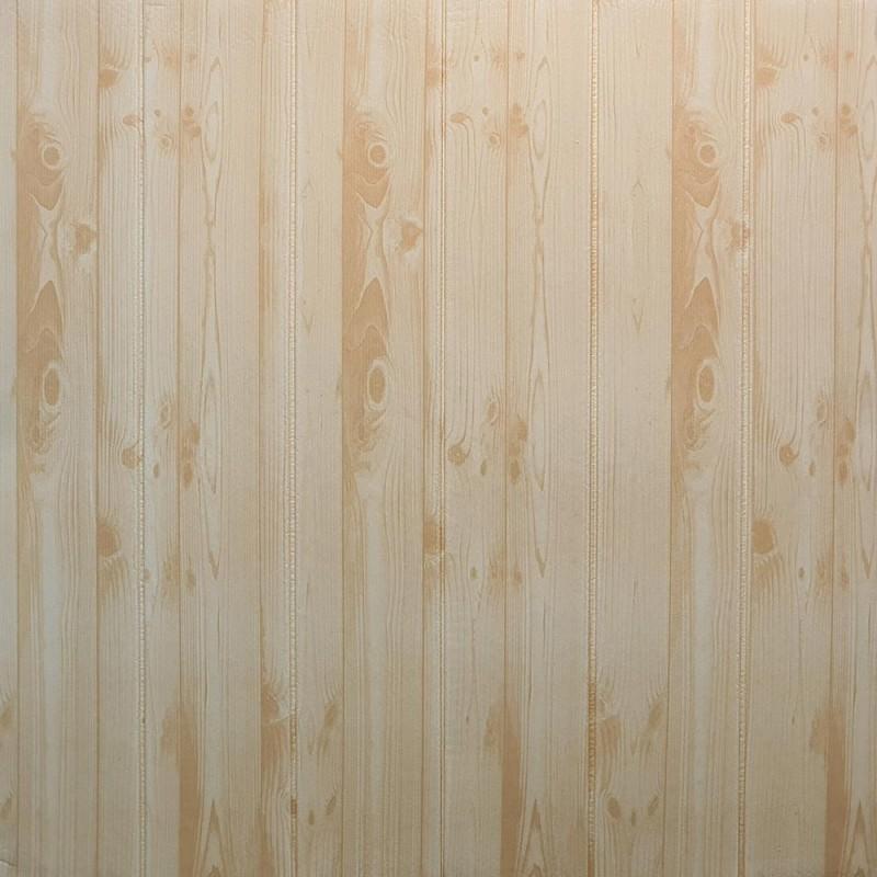 دیوارپوش فومی طرح چوب کرم جدید مدل 60