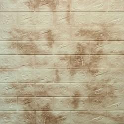 دیوارپوش فومی طرح ابر وباد قهوه ای روشن مدل 67