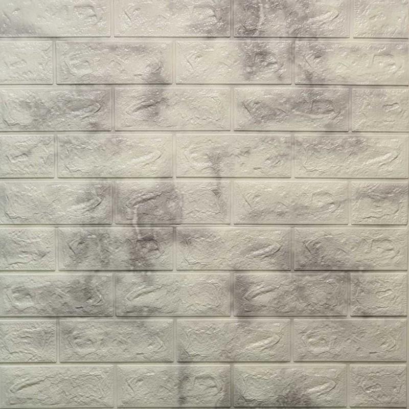 دیوارپوش فومی طرح ابر وباد سفید طوسی مدل 68